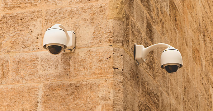 two surveilance cameras