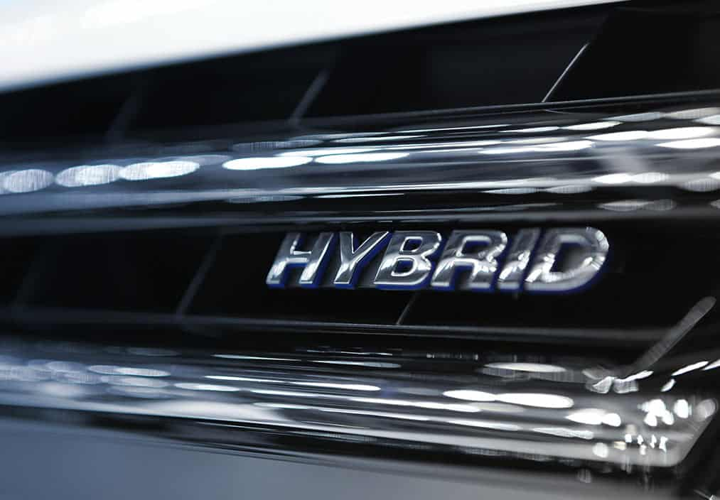 hybrid car close up