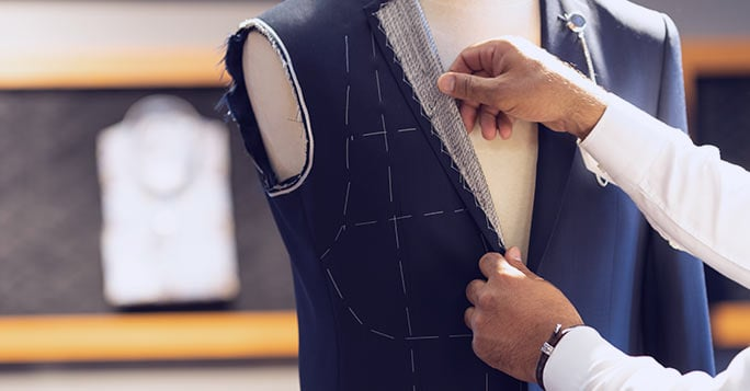 tailored suit fitting